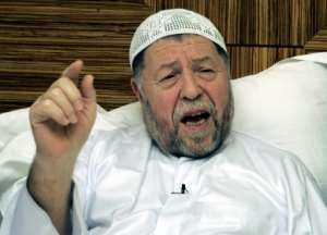 Abassi Madani, who died this week in Qatar, founded Algeria's now-outlawed Islamic Salvation Front.  By Karim JAAFAR (AFP/File)