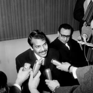 Abdelaziz Bouteflika pictured at Paris' Orly airport on February 21, 1964, when he was then Algeria's foreign minister.  By STF (AFP/File)