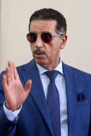 Abdelhak Khiam, director of Morocco's Central Bureau of Judicial Investigation (BCIJ), talking to the media in the city of Sale near the capital Rabat.  By - (AFP)