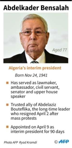 Profile of Abdelkader Bensalah, Algeria's interim president..  By Vincent LEFAI (AFP)