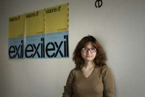 Afghan performance artist Kubra Khademi is one of about 200 artists who have found help at the Paris-based Studio of Artists in Exile after she fled her homeland.  By Philippe LOPEZ (AFP)