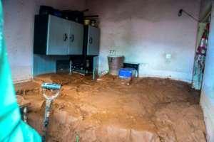 Aftermath: Mud fills a home in Chimanimani.  By ZINYANGE AUNTONY (AFP)