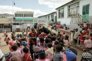 Akamasoa sustains 18 villages, among them around 10,000 children. All of them have education, thanks to 37 schools the association has built since its founding.  By GIANLUIGI GUERCIA (AFP)