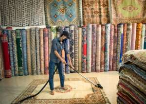 Almost three months of coronavirus restrictions have dealt a heavy blow to an already struggling handicraft industry.  By FADEL SENNA (AFP)