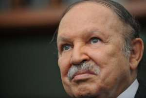 Algerian President Abdelaziz Bouteflika at the presidential palace in Algiers on May 25, 2010.  By Fayez Nureldine (AFP/File)