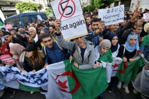 Algerian protesters have rejected all five presidential candidates, citing their links to former long-ruling leader Abdelaziz Bouteflika.  By RYAD KRAMDI (AFP/File)