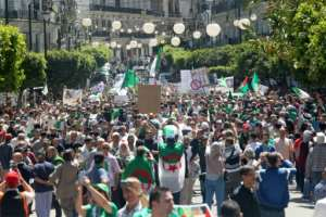 Algerian protesters want key leaders to quit ahead of presidential elections set for July 4. By - (AFP)
