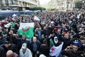 Algerian protesters want the total dismantling of the political establishment.  By - (AFP)