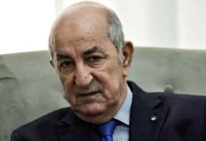 Algerian President Abdelmadjid Tebboune is due to meet US Secretary of Defence Mark Esper on Thursday in Algiers.  By RYAD KRAMDI (AFP)