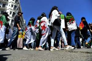 Algerian students have been at the forefront of weeks of anti-regime protests.  By RYAD KRAMDI (AFP)