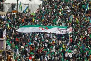 Algerians in a sixth successive Friday of mass protests against ailing President Abdelaziz Bouteflika in the capital Algiers. By - (AFP)