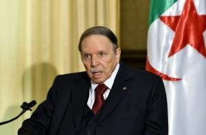 Algeria's veteran President Abdelaziz Bouteflika, seen here in a rare public appearance in 2016, has left everyone guessing whether he will seek a fifth term in an election called for April 18.  By Eric FEFERBERG (AFP/File)