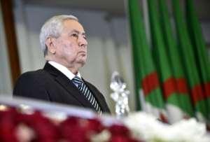 Algeria's interim president, upper house speaker Abdelkader Bensalah, is an establishment insider. By RYAD KRAMDI (AFP)