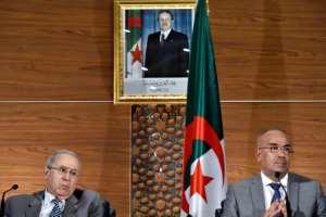 Algeria's Prime Minister Noureddine Bedoui (R) and his deputy Ramtane Lamamra were named by President Abdelaziz Bouteflika on Monday. By RYAD KRAMDI (AFP)