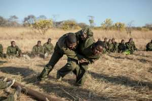 All Akashinga rangers come from villages near the area they patrol, so they can work with the locals.  By GIANLUIGI GUERCIA (AFP)