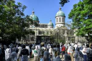 Although Prime Minister Abiy Ahmed has refrained from imposing the kinds of lockdowns seen elsewhere in the region, despite low testing capacity, worshippers could not access the cathedral.  By Michael Tewelde (AFP)