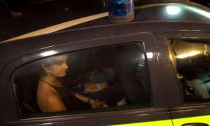An image grab taken from a video released by Local Team shows Rackete being taken away following her arrest for refusing to obey a military vessel, which could see her jailed for up to 10 years.  By Anaelle LE BOUEDEC (LOCALTEAM/AFP)