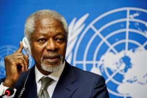 Annan was the first UN chief from sub-Saharan Africa.  By SEBASTIEN BOZON (AFP/File)