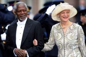 Annan's wife Nane Maria survives the former UN chief.  By PATRIK STOLLARZ (AFP)