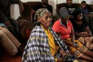 Anastacio Matavele's mother mourns his death with his family in Xai-Xai.  By GIANLUIGI GUERCIA (AFP)
