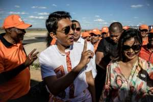 Andry Rajoelina assumed the presidency after his predecessor Ravalomanana was forced to step down in 2009.  By MARCO LONGARI (AFP)