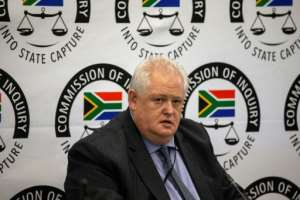 Angelo Agrizzi, former COO of Bosasa, a company that had contracts with government institutions, testifies at the Commission of Inquiry into State Capture investigating alleged corruption under ex-president Jacob Zuma.  By WIKUS DE WET (AFP)