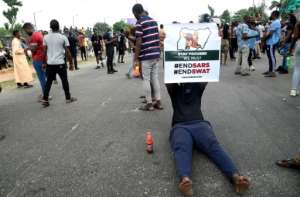 Anger over abuses by the police's notorious Special Anti-Robbery Squad (SARS) erupted into widespread demonstrations last week.  By PIUS UTOMI EKPEI (AFP)