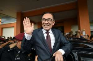Anwar was originally jailed 20 years ago by then-premier Mahathir Mohamad, on what supporters insisted were trumped up sodomy charges.  By MOHD RASFAN (AFP)