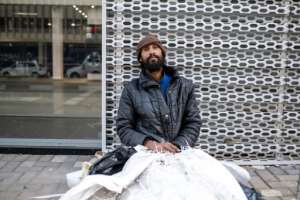 Ashley Abrahams, 38, a homeless addict says he regrets starting to use heroin 10 years ago.  By Wikus DE WET (AFP)