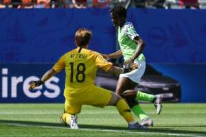 Asisat Oshoala scored as Nigeria beat South Korea for their only victory at the2019 Women's World Cup in France.  By Jean-Pierre Clatot (AFP)
