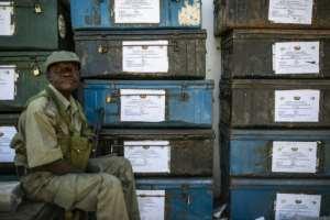 Around 13 million of Mozambique's 30 million citizens are registered to vote in the polls.  By PATRICK MEINHARDT (PATRICK MEINHARDT/AFP)