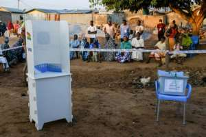 Around 17 million people are eligible to vote to cast ballots for a new president and members of parliament for 275 seats.  By Nipah Dennis (AFP)