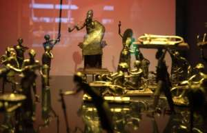 Artefacts from the Kingdom of Dahomey claimed by Benin.  By GERARD JULIEN (AFP/File)