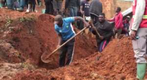 At least 42 people were killed in the landslide in the western Cameroon city of Bafoussam.  By - (AFP)