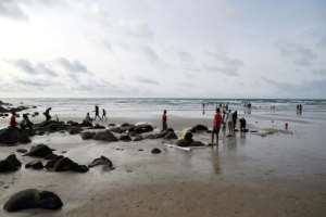 Atlantic view: Yoff beach, where the Copacabana restaurant is located.  By SEYLLOU (AFP)