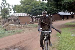 A member of a vigilante group patrols following attacks by Hausa Fulani herdsman in Plateau State in 2004.  By Pius Utomi Ekpei (AFP/File)