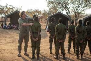 Australian Damien Mander (L) started the Akashinga programme in 2017 as part of the non-profit International Anti-Poaching Foundation that he founded.  By GIANLUIGI GUERCIA (AFP)