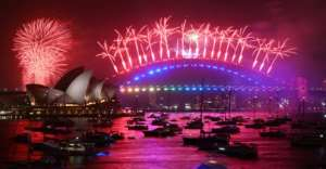 Australia's largest city usually puts on a dazzling display of pyrotechnics over the glittering harbour, but this year's celebrations were overshadowed by calls to cancel the fireworks as devastating bushfires rage across the country.  By PETER PARKS (AFP)