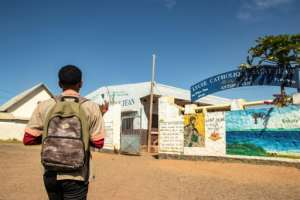 Back to school: Beafara returns to St. John's for classes.  By Fita Fanomezantsoa (AFP)