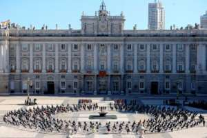 Badly-hit Spain pauses to honour its tens of thousands of victims at a state ceremony.  By Juanjo Martin (POOL/AFP)