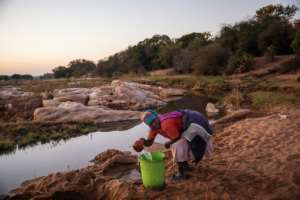 Baleni salt is harvested by hand from the banks of a remote river in northwestern South Africa.  By Michele Spatari (AFP)