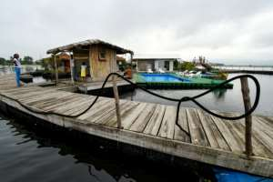 Becker has around 100 customers a week, mostly curious Ivorians or ecologically-friendly tourists.  By ISSOUF SANOGO (AFP)