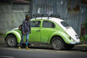 Beetles became a common sight in Addis Ababa under former emperor Haile Selassie.  By MICHAEL TEWELDE (AFP)