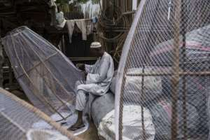 Before conflict swept across northeast Nigeria, fishing was one of the region's largest sources of income. But few fishermen now dare venture out onto Lake Chad.  By STEFAN HEUNIS (AFP)