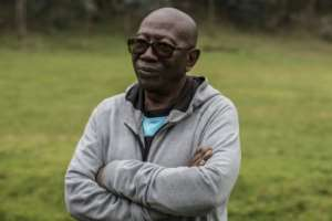 Bernard Ntuyahaga, a former army major, was convicted over his role in the death of 10 Belgian soldiers with the UN peacekeeping force. By JACQUES NKINZINGABO (AFP)