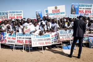 Biya's rulingCameroon People's Democratic Movement (CPDM) has allegedly been handing out cash incentives ahead of Sunday's vote.  By ALEXIS HUGUET (AFP)