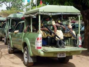 A military unit patrols in Jos, Plateau State, in 2011.  By Susan Njanji (AFP/File)