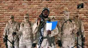 Boko Haram factional leader Abubakar Shekau -- seen here in a video released by his group on January 15 -- is at the helm of an organisation whose campaign has destroyed thousands of lives and uprooted millions of people.  By Handout (BOKO HARAM/AFP)