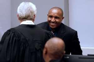 Bosco Ntaganda (R) told judges he was a