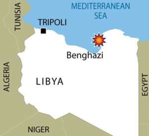 Benghazi has been hit by sporadic acts of violence this year.  By  (AFP/Graphics)
